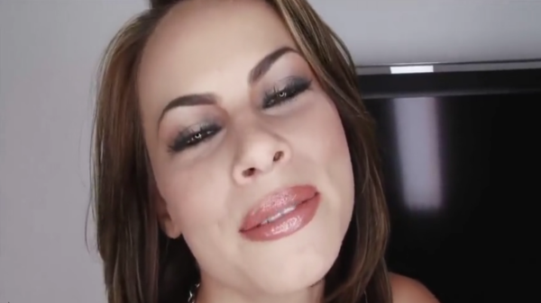 Young brunette's mouth is perfect for blowjob фото